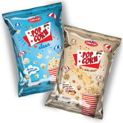 Pop Corn design for Corn Flips company