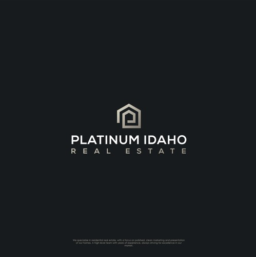 P logo with the title 'Platinum Idaho Real Estate'