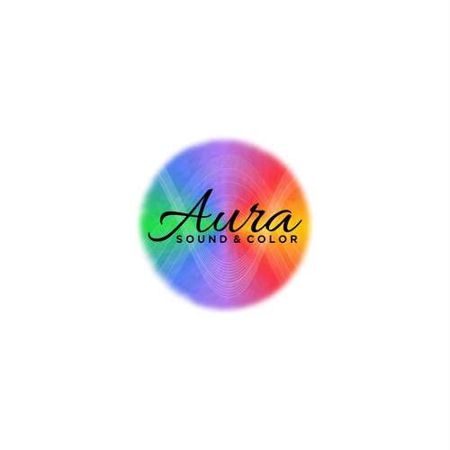 Chakra design with the title 'Aura Sound & Color Logo Design'