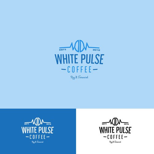 Trendy brand with the title 'white pulse coffee'