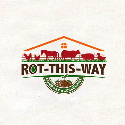 Fencing logo with the title 'Rot-This-Way'