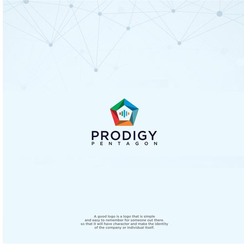 Pentagon design with the title 'Prodigy pentagon'