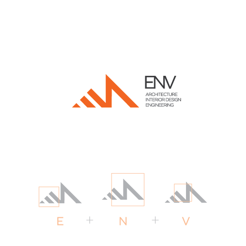 Engineering logo with the title 'logo design for ENV '
