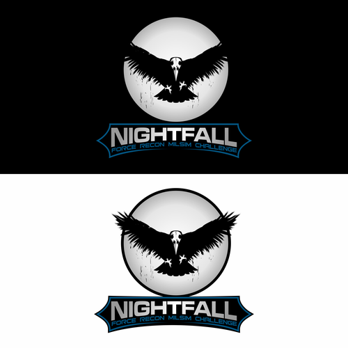 Crow logo with the title 'Nightfall'