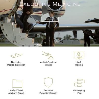 Exclusive Medical Concierge Service Web Icons