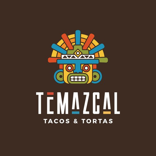Taco design with the title 'TEMAZCAL'