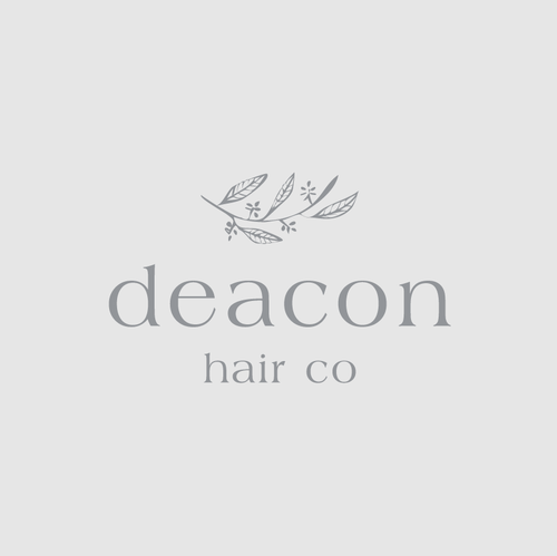 Beauty logo with the title 'Deacon Hair Co'