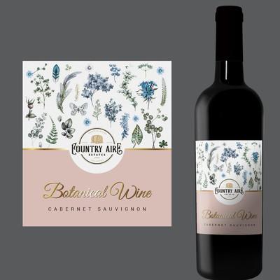 Label presenting botanically infused wine