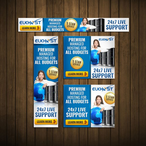 Hosting design with the title 'Banner Ad'