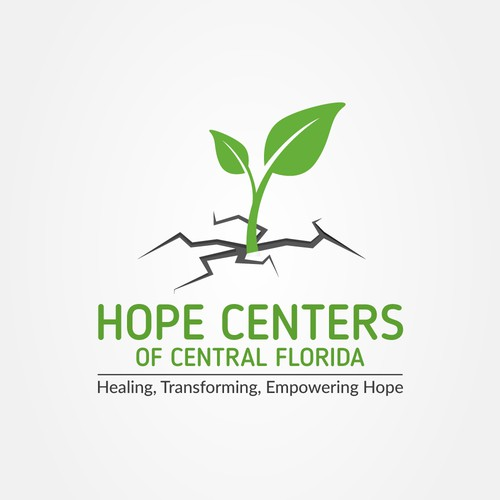 Hope logo with the title 'Logo Design for HOPE Center'