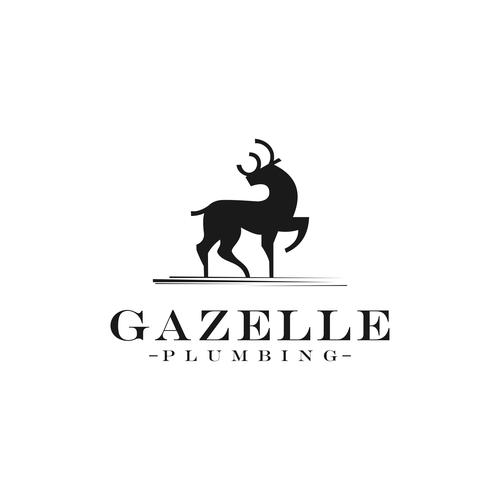 Gazelle design with the title 'Gazelle Plumbing'