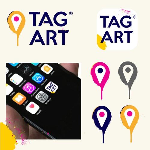 Street art logo with the title 'Logo Design for StreetArt App'