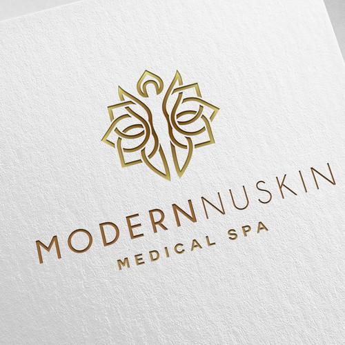 Human logo with the title 'Modern Logo Design'