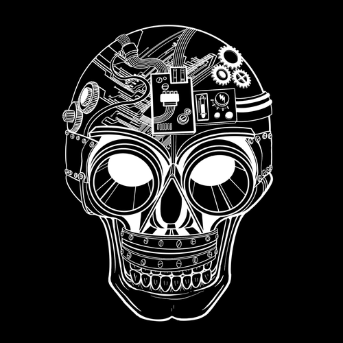 Sci-fi t-shirt with the title 'Science Skull 💀'