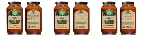 Farm label with the title 'Design product labels for Fidelis Farms'
