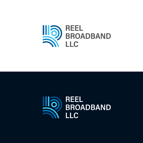 Signal design with the title 'Logo design entry for Reel Broadband'