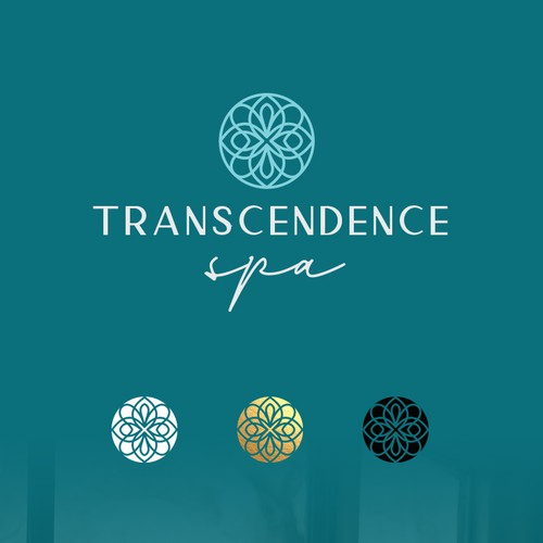 Facial logo with the title 'Transcendence Spa Logo'