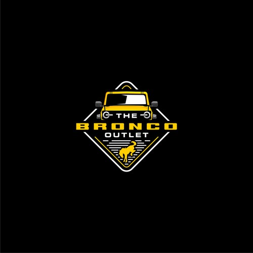 Dealer logo with the title 'logo concept for the bronco outlet'