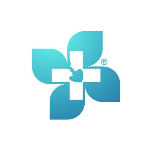Blossom design with the title 'A unique Blossom Symbol for a Cosmetic Brand '