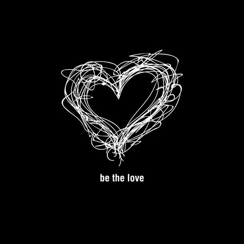 Love design with the title 'Be The Love'
