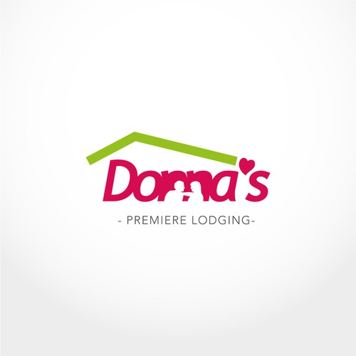 B&B logo with the title 'Logo proposal for Donna's Premiere Lodging'