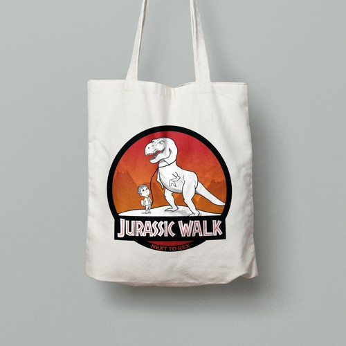 Memorable brand with the title 'Jurassic Walk logo'