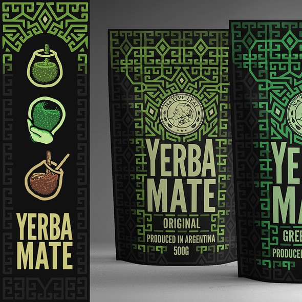Vector packaging with the title 'Illustrated Packaging for Tea'