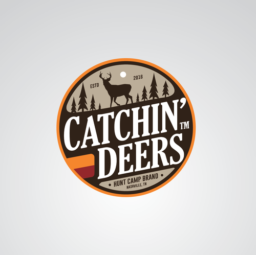 Patch logo with the title 'Catchin' Deers logo design concept'