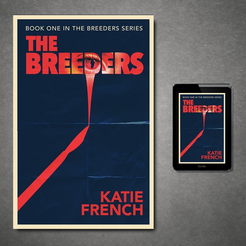 Dystopian book cover with the title 'The Breeders'