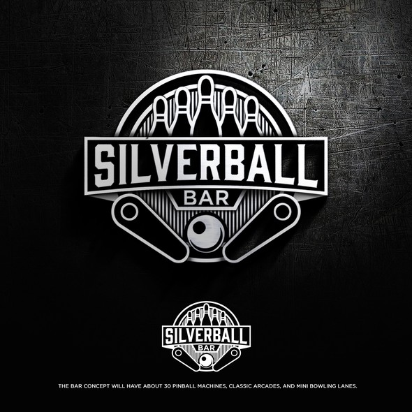 Pinball design with the title 'Silverball Bar'