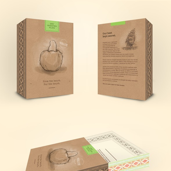 Gift packaging with the title 'Gift Box Design for More Than Cashews '