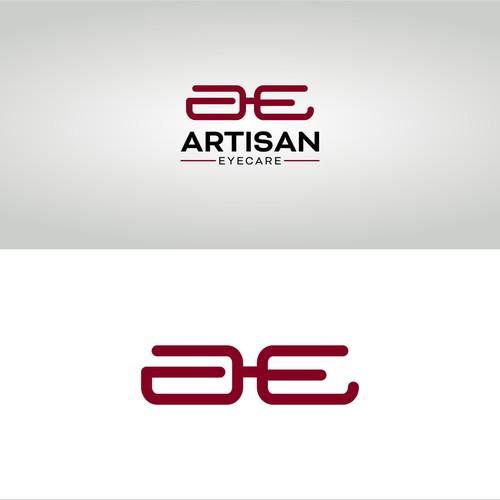 Eye care logo with the title 'logo design for artisan eyecare'