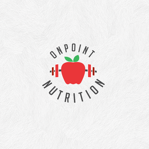 Fitness brand with the title 'Nutrition and fitness logo'