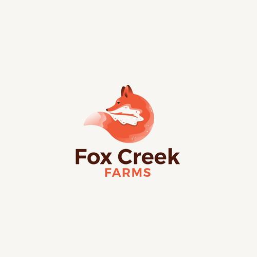 Oak tree design with the title 'Fox Creek farms '