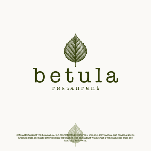 Hand-drawn brand with the title 'Logo design for Betula Restaurant'