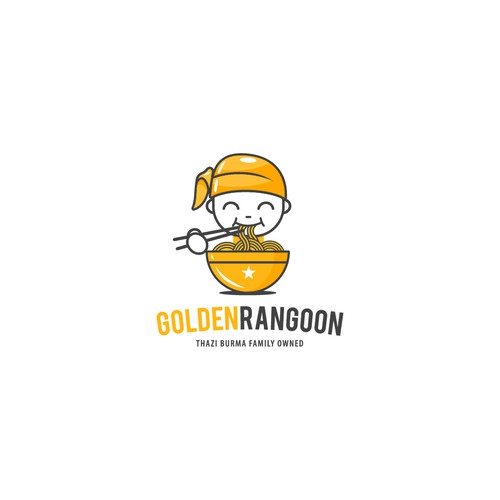 Noodle logo with the title 'Golden Rangoon'