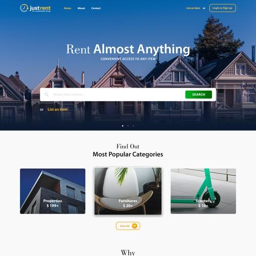 Rental website with the title 'Remtal Portal'