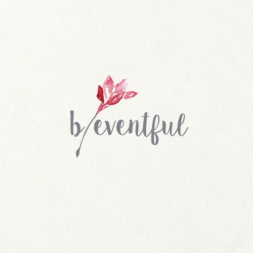 Wedding logo with the title 'b eventful'