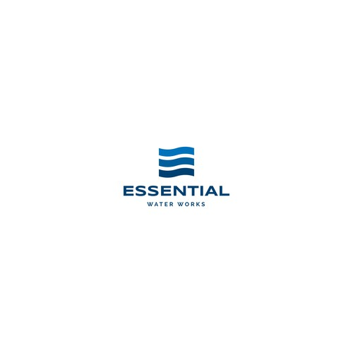 Plumbing logo with the title 'Logo for Essential Water Works'