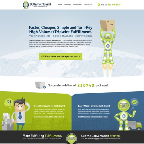 Storage design with the title 'Creative Website Design For Dollar Fulfillment Co'