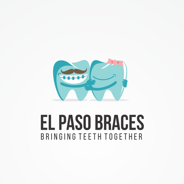 Braces design with the title 'Playful Orthodontic Specialist Logo'