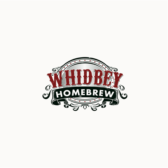 Classic design with the title 'Vintage emblem logo for beer and wine retail company'