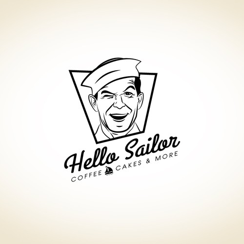 Sailor design with the title 'Help Hello Sailor with a new logo'
