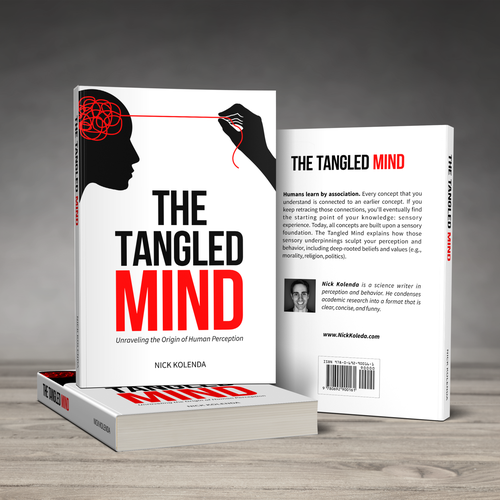 Abstract book cover with the title 'The Tangled Mind Book Cover'