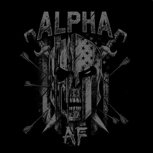 Spartan design with the title 'ALPHA  AF'