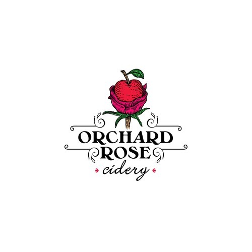 Liquor logo with the title 'Orchard Rose'