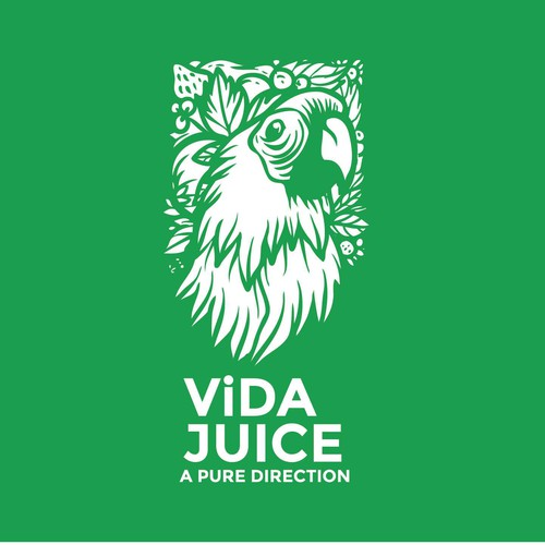Tropical logo with the title 'Logo for Vida Juice (Organic Juice)'
