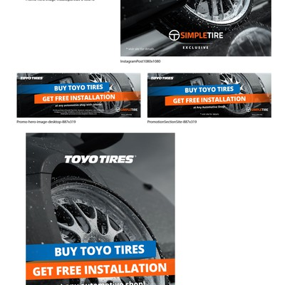 Hero image & Banners for Toyo Tires marketing campaign