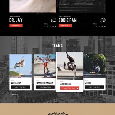 Website design for an Art website