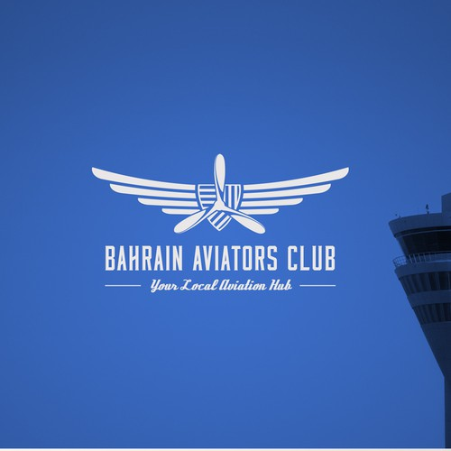 Propeller design with the title 'Logo design for an aviation club'
